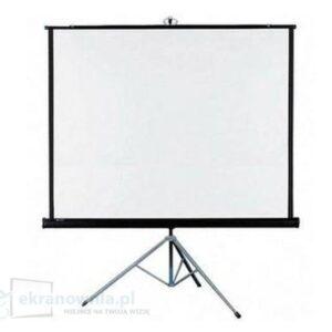Projekcyjny ekran przenośny na statywie -optika | sklep ekranownia.pl