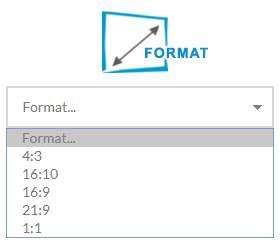 ekran projekcyjny-format