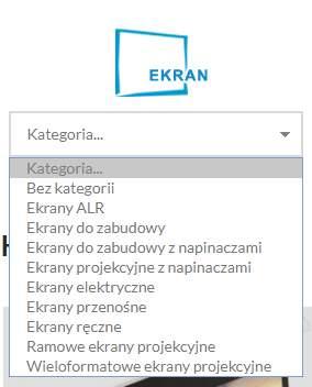 ekran projekcyjny - kategoria