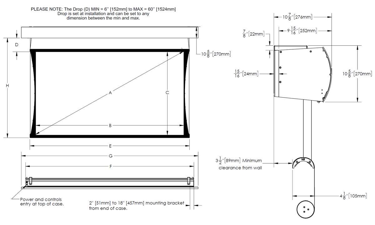 Ekran projekcyjny SI Zero-G external